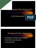 Earthquake+Data+Integration Gocad
