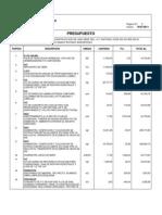 presupuesto nueva sede