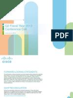 Cisco Q2FY12 Earnings Slides