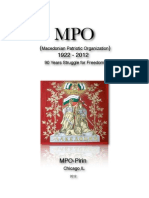 1922-2012 , MPO 90 years struggle for freedom of Macedonia