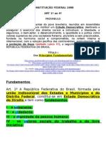 CF - art 1 ao 4 - Princípios Fundamentais
