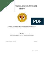 Formatos de Archivos de Secuencias