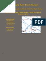 Understanding Water Use in Montana