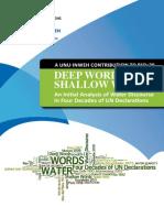 Evolución del discurso del agua en la ONU en 40 años