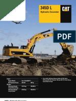 40t CAT Excavator - 345DL