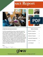 GLOW - January 2012 Impact Report