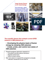 Y. C. Francis Thio- An Overview of High Energy Density Plasma (HEDP) Research in the U.S. Fusion Energy Sciences Program