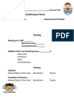 February Conference Form