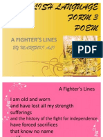 A Fighter's Lines