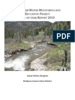 Jack Creek Water Monitoring and Education Project