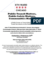 6th Ward Public Forum