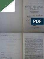 Joseph Schumpeter Historia Del Analisis Economico