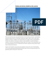 Power Shortage Problems Solutions by Other Countries