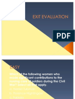 Exit Evaluation