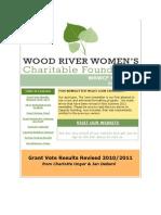 WRWCF Newsletter Summer 2011