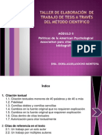 Taller de elaboración de tesis DORA AGUILASOCHO
