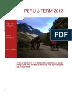 Team Peru J-Term 2012 Project Report