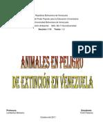 Animales Venezolanos en peligro de extinción