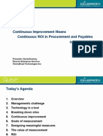 Continuous ROI in Procurement and Payables