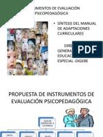 instrumentos de evaluación psicopedagógica