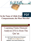 Learning Finite Element Analysis (FEA) from The Qur'an
