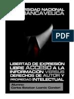 LIBERTAD DE EXPRESIÓN VS DERECHOS DE AUTOR