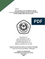 Faktor-faktor Yang Mempengaruhi Kinerja Sistem Informasi Akuntansi Pada Usaha Perbankan Di Manado