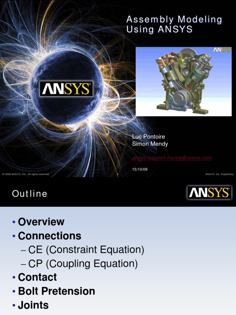 Assembly Modeling Using ANSYS | Stiffness | Deformation (Mechanics)