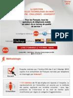 La Question Nouvelles Technologies Du Mois - Fev 2012