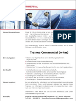 Trainee Commercial (m/w)