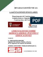 Cimentaciones Sobre Medias Laderas. Puentes y Edificaciones
