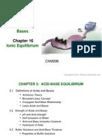 Chapter 3 Acids & Bases