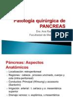 Patología quirúrgica de PANCREAS  ARM
