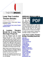 London Breaks - Short Weekend Romantic and Theatre