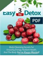 Easy Three Day Detox