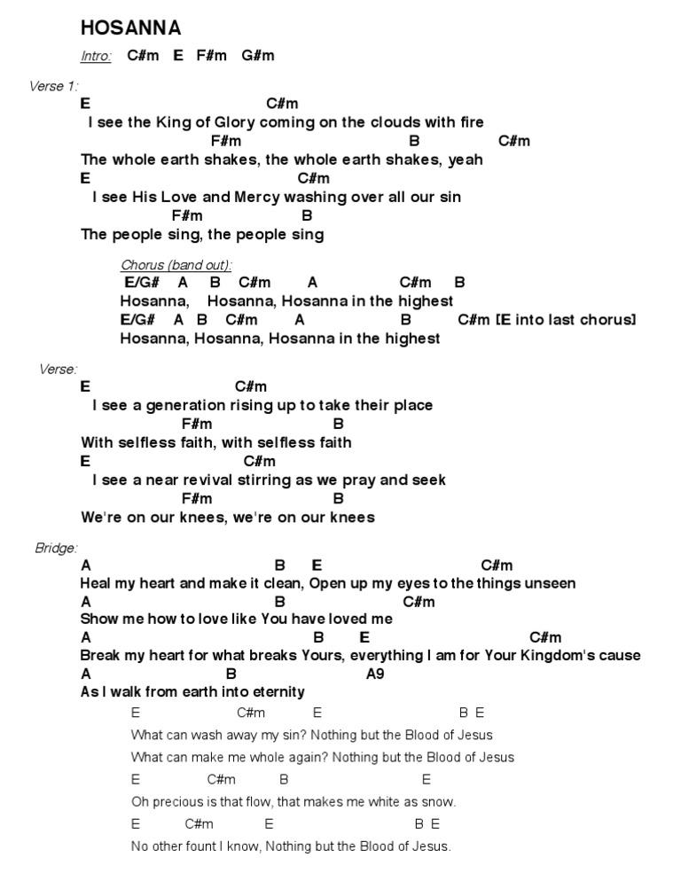 Hosanna hillsong lyrics