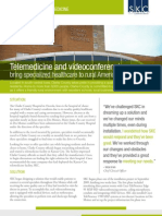 Telemedicine and videoconferencing