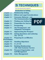 Sales Techniques - Sales Training