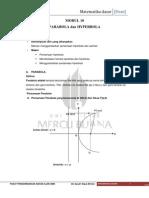 Matematika Dasar - 10 Parabola Dan Hyperbola