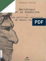 Mariategui en La Argentina