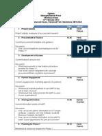 Managed Market Place - Working Group - 14 February - Agenda