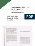 AGRA, Lucio-Historia-da-Arte-do-Seculo-XX-Capitulo-8