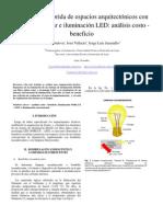 análisis costo-beneficio de iluminacion hibrida FOBLUX y LED