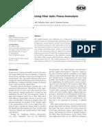 Temperature Sensor Using Fiber Optic Fizeau Homodyne Interferometer