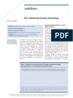 ACG Guidelines for Colorectal Cancer Screening