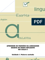 Aprender Padroes Lingua Escrita Modo Reflexivo Parte I Aluno