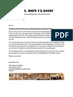 Invitation Letter Mr Don Classic 2012