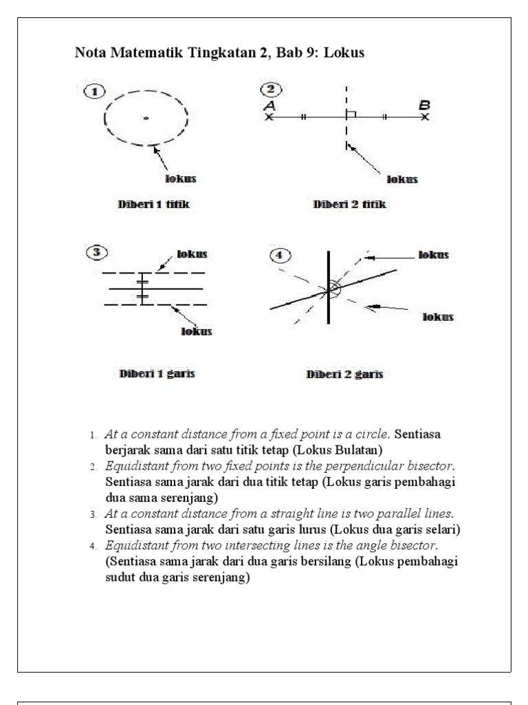 Nota Matematik Tingkatan 2 Bab 9