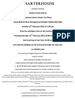 Charterhouse Car Auction 12th Feb 2012