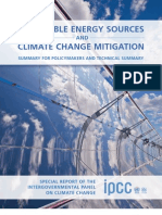 Renewable Energy Sources and Climate Change Mitigation - SPM+TS - English